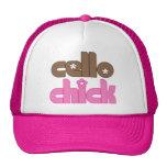 Cute Cello Chick Trucker Hat