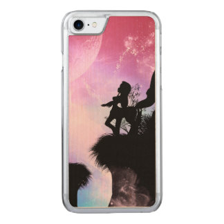 Cute centaurs silhouette in the night carved iPhone 7 case