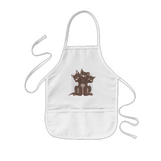 Cute cerberus puppy apron