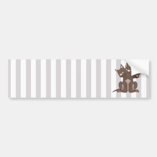 Cute cerberus puppy bumper stickers