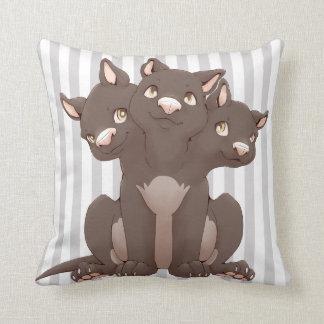 Cute cerberus puppy pillow