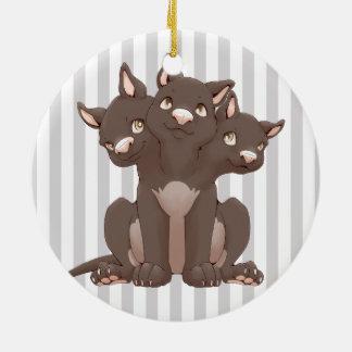 Cute cerberus puppy christmas ornaments