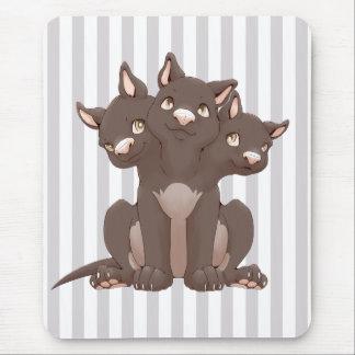 Cute cerberus puppy mousepads