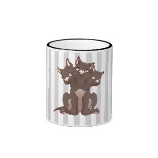 Cute cerberus puppy mugs