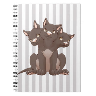 Cute cerberus puppy note books
