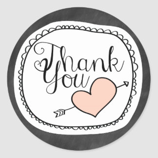Cute Chalkboard Thank You Sticker