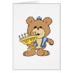 cute Chanukah  hanukkah Menorah teddy bear Greeting Card