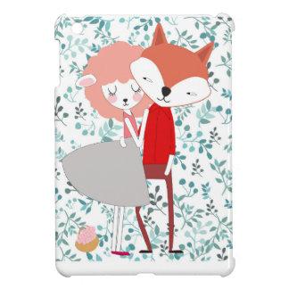 Cute character animal fox wolf man and sheep lamp iPad mini cover