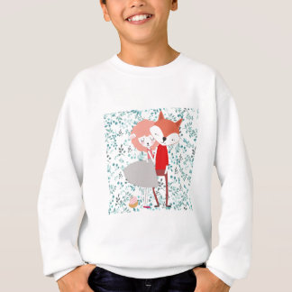 Cute character animal fox wolf man and sheep lamp sweatshirt