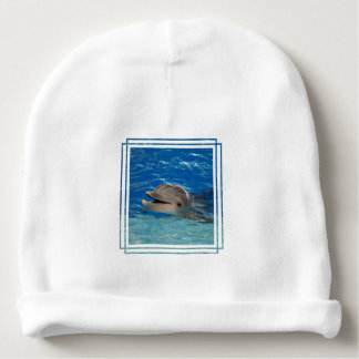 Cute Chattering Dolphin Baby Beanie