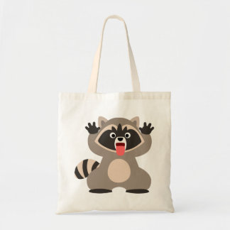 Cute Cheeky Cartoon Raccoon Tote Bag