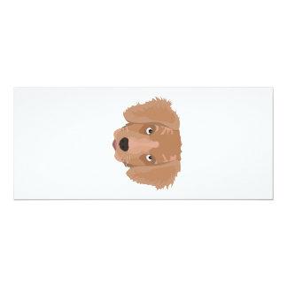 Cute cheeky Puppy 10 Cm X 24 Cm Invitation Card