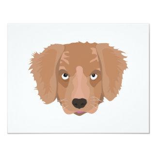 Cute cheeky Puppy 11 Cm X 14 Cm Invitation Card