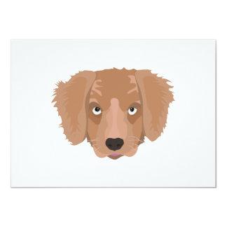 Cute cheeky Puppy 11 Cm X 16 Cm Invitation Card