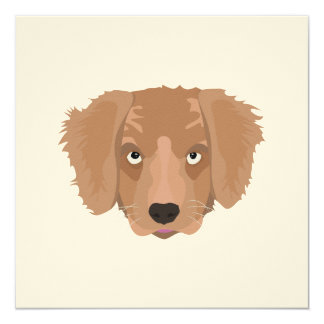 Cute cheeky Puppy 13 Cm X 13 Cm Square Invitation Card