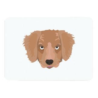 Cute cheeky Puppy 13 Cm X 18 Cm Invitation Card