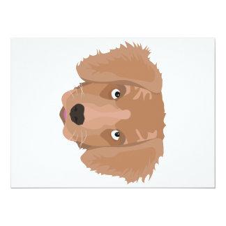 Cute cheeky Puppy 14 Cm X 19 Cm Invitation Card