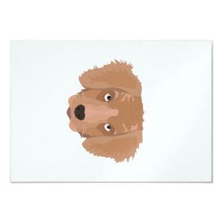 Cute cheeky Puppy 9 Cm X 13 Cm Invitation Card