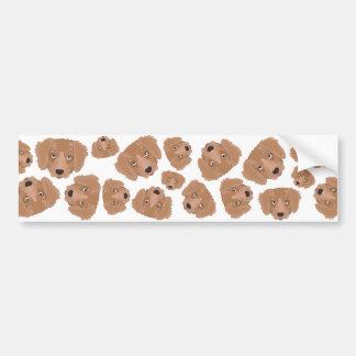 Cute cheeky Puppy Bumper Sticker