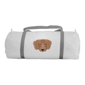 Cute cheeky Puppy Gym Duffel Bag