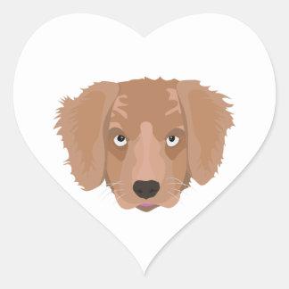 Cute cheeky Puppy Heart Sticker