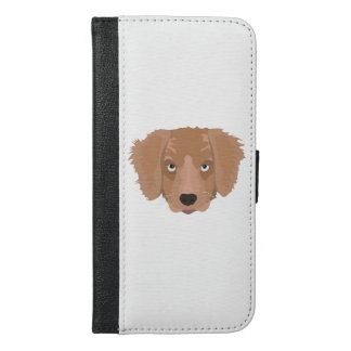 Cute cheeky Puppy iPhone 6/6s Plus Wallet Case