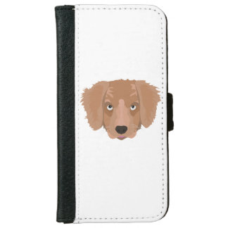 Cute cheeky Puppy iPhone 6 Wallet Case