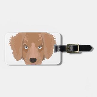 Cute cheeky Puppy Luggage Tag