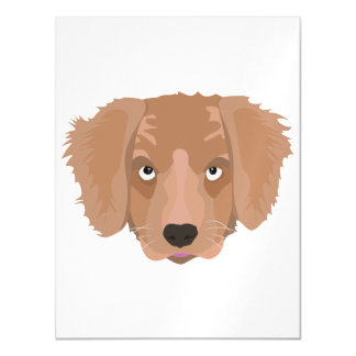 Cute cheeky Puppy Magnetic Invitations