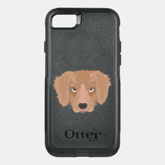Cute cheeky Puppy OtterBox Commuter iPhone 8/7 Case