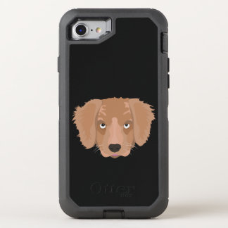 Cute cheeky Puppy OtterBox Defender iPhone 8/7 Case