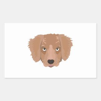 Cute cheeky Puppy Rectangular Sticker