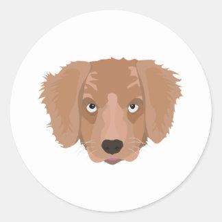 Cute cheeky Puppy Round Sticker
