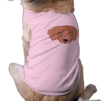 Cute cheeky Puppy Sleeveless Dog Shirt