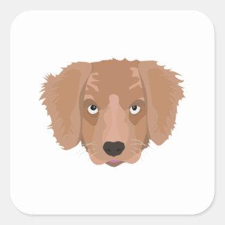 Cute cheeky Puppy Square Sticker