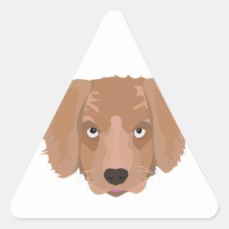 Cute cheeky Puppy Triangle Sticker