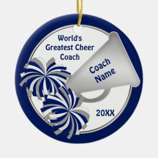 Cute Cheer Coach Gift Ideas PERSONALIZED Ceramic Ornament