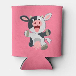 Cute Cheerful Cartoon Cow
