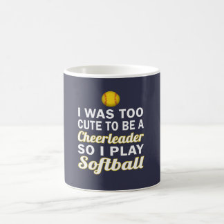 Cute Cheerleader Softball Coffee Mug