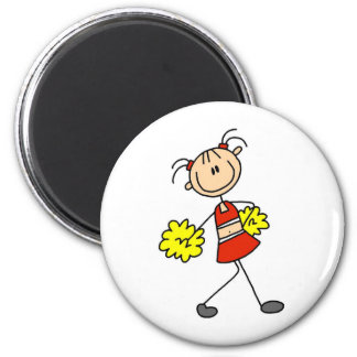 Cute Cheerleading Stick Figure Magnet