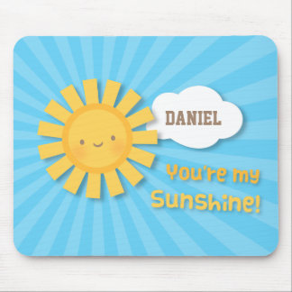 Cute Cheery Little Sunshine For Kids Mouse Pad