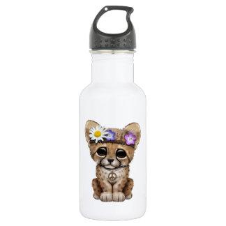 Cute Cheetah Cub Hippie 532 Ml Water Bottle
