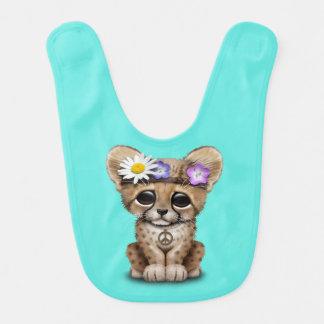 Cute Cheetah Cub Hippie Baby Bib