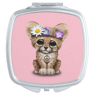 Cute Cheetah Cub Hippie Compact Mirror