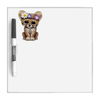 Cute Cheetah Cub Hippie Dry Erase Board