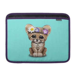Cute Cheetah Cub Hippie MacBook Sleeve