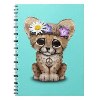 Cute Cheetah Cub Hippie Notebooks