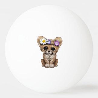 Cute Cheetah Cub Hippie Ping Pong Ball