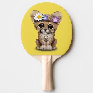 Cute Cheetah Cub Hippie Ping Pong Paddle