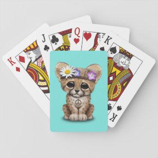 Cute Cheetah Cub Hippie Playing Cards